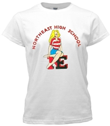Vintage Northeast High Girl Booster Tee from www.retrophilly.com