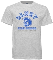 Olney High Philadelphia Old School T-shirts from www.retrophilly.com