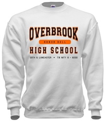 Overbrook High Philadelphia Old  School Sweatshirts from www.retrophilly.com