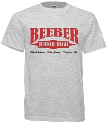 Beeber Junior High Philadelphia Old School T-Shirt from www.retrophilly.com