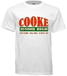Cooke Junior High Philadelphia Old School T-Shirt from www.retrophilly.com