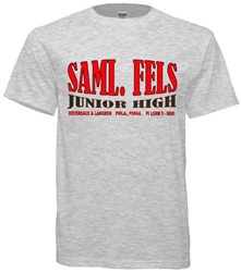 Fels Junior High Philadelphia Old School T-Shirt from www.retrophilly.com