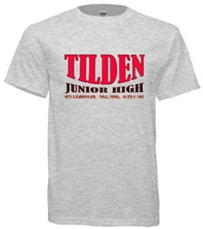 Tilden Junior High Philadelphia Old School T-Shirt from www.retrophilly.com