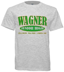 Vintage Wagner Junior High Old School T-Shirt from www.RetroPhilly.com