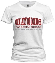 Our Lady of Lourdes Elementary Philadelphia Old School T-Shirt from www.retrophilly.com
