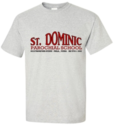 St Dominic Elementary Philadelphia Old School T-Shirt from www.retrophilly.com
