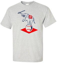 Vintage Philadelphia A's Throwback Logo T-Shirt from www.retrophilly.com