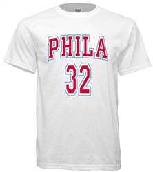 Vintage 1967 Philadelphia 76ers Billy Cunningham Jersey Tee from www.retrophilly.com