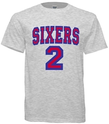 Vintage 1983 Philadelphia 76ers Moses Malone Jersey Tee from www.retrophilly.com