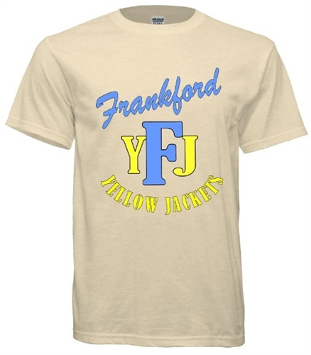 9d9fb7150 Vintage Frankford Yellow Jackets T-Shirt - RetroPhilly.com